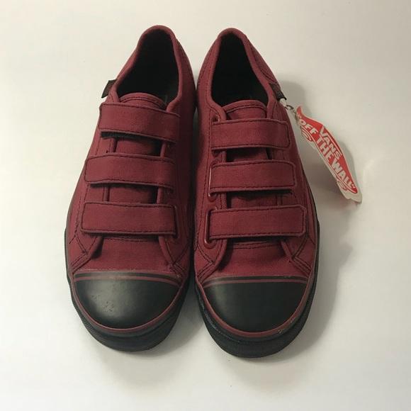 a2bf62b24548b3 VANS 23V Unisex Slip-On Sneakers Velcro Strap NEW